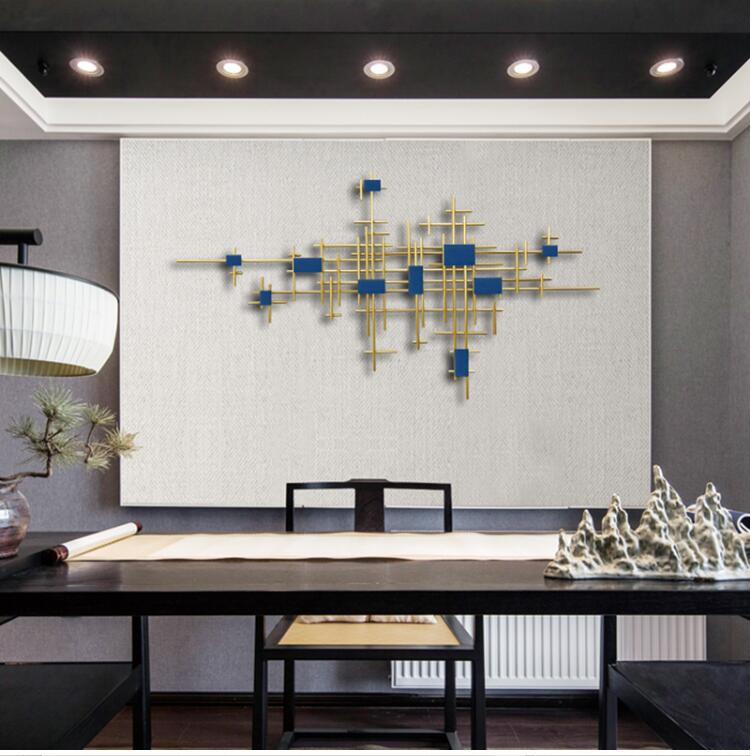 Europeu de ferro forjado decoração da parede pingente casa sala tv fundo parede pendurado artesanato hotel escritório adesivo murais - 2