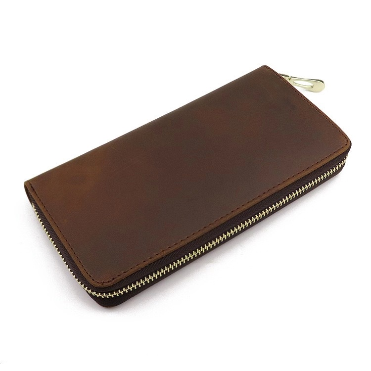 Large capacity multi card cash long dark chain wallet