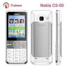 オリジナルノキア C5 携帯電話 3 グラムロック解除改装クラシック電話 C5 00 英語ロシア語アラビア