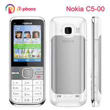 Nokia c5 original, telefone celular 3g desbloqueado, reformado, clássico, C5-00, inglês, russo, árabe, teclado