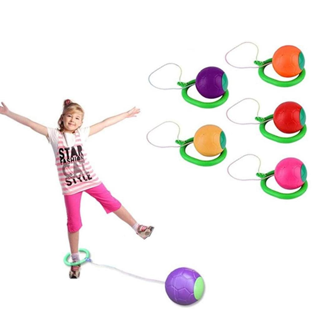 Children LED Flashing Jumping Rope Ball Colorful Ankle Skip Jump Ropes Sports Swing Ball Toys Fun