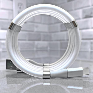 Fast Charge 2.4A Magic Rope Magnetic Data Cable for iPhone Samsung Xiaomi Automatically