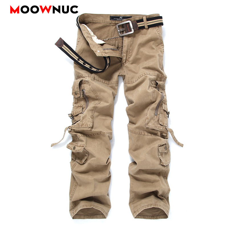 Streetwear Autumn Men's Cargo Pants Casual Hombre Cotton Military Style Outdoors Plus Size Safari Style Trousers Male MOOWNUC