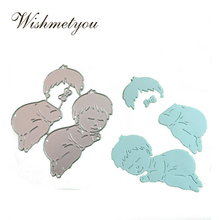 WISHMETYOU Baby Sleep Children Metal Cutting Dies Lovely Embossing Photo Album Greeting Cards Stamps And Crafts DIY