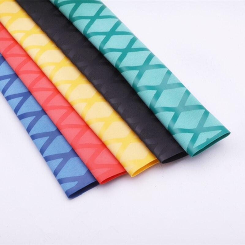 Нескользящая термоусадочная Обёрточная бумага насосно-компрессорных труб Удочка DIY 5 видов цветов 1 м ручка изоляции Водонепроницаемый рак...