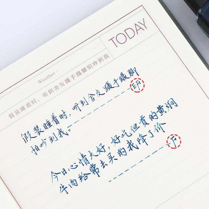 Pistões transparentes caneta tinta clara ef f