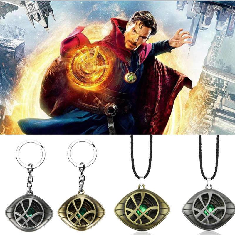 Film Marvel Avengers docteur étrange métal porte-clés collier oeil Agomoto exquis bijoux accessoires cadeau fête Llavero collier