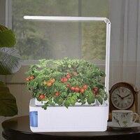 Lámpara de escritorio hidropónica para interior, Kit de jardín de hierbas, lámpara Led multifunción inteligente para cultivo de flores y verduras