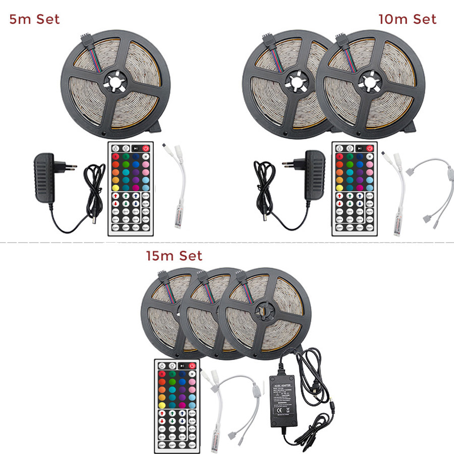9 RGB LED Strip 15M 20M Led Light Tape SMD 2835 5M 10M DC 12V Waterproof RGB LED Light diode Ribbon Flexible Controller5(3)