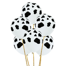 10Pcs 12inch 3.2g Cow Print Balloons Latex Happy birthday party decorations kids Holiday wedding Thicken Ballons Decoration