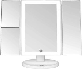 LED Makeup Mirror Touch Screen with Light Large Tri-fold Desktop Table Lamp Mirror Folding Dressing Mirror Square PrincessMirror desktop touch lighting up touch screen magnifiying 3 folding adjustable beauty mirror makeup with led light mirror