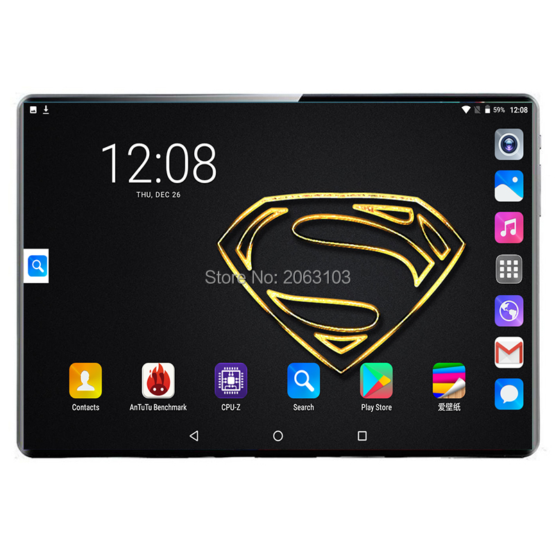 Newest 10 Inch Tablet PC MTK8752 Deca Core 8GB RAM 128GB ROM Android 9.0 3G 4G 2.5D Super Glass Screen Tablets 10.1