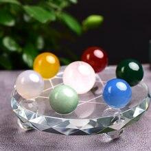Набор из семи звездочных шариков натуральный кристалл минеральное