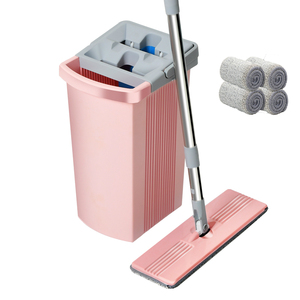 Mopa y cubo Xiaomi, mopas exprimibles Wonderlife_aliexpress, herramientas de limpieza para el hogar, lavado para limpiador de pisos, almohadillas mágicas rosadas perezosas