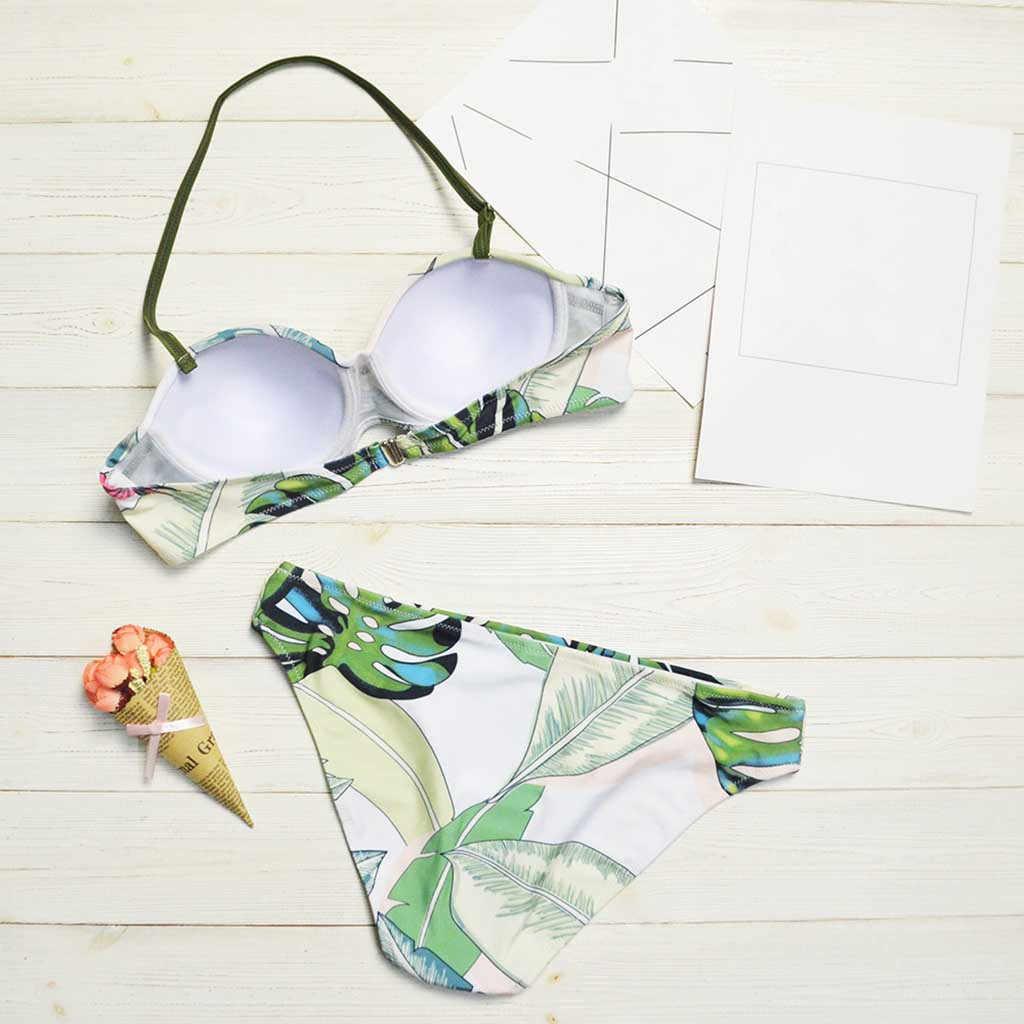 TELOTUNY, женский купальник, набор, сексуальные листья для веревки, бикини, Женский пуш-ап, бикини, купальник, бикини, 2020 Mujer