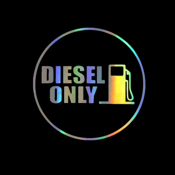 Funny DIESEL ONLY Vinyl Car Stickers Decals Cover Scratches Car Accessories for Rear Windshield Window Trunk Bumper PVC12*12cm 2x diesel emission cheats enabledfunny decals stickers motorcycle suvs bumper window car stylings vinyl decals