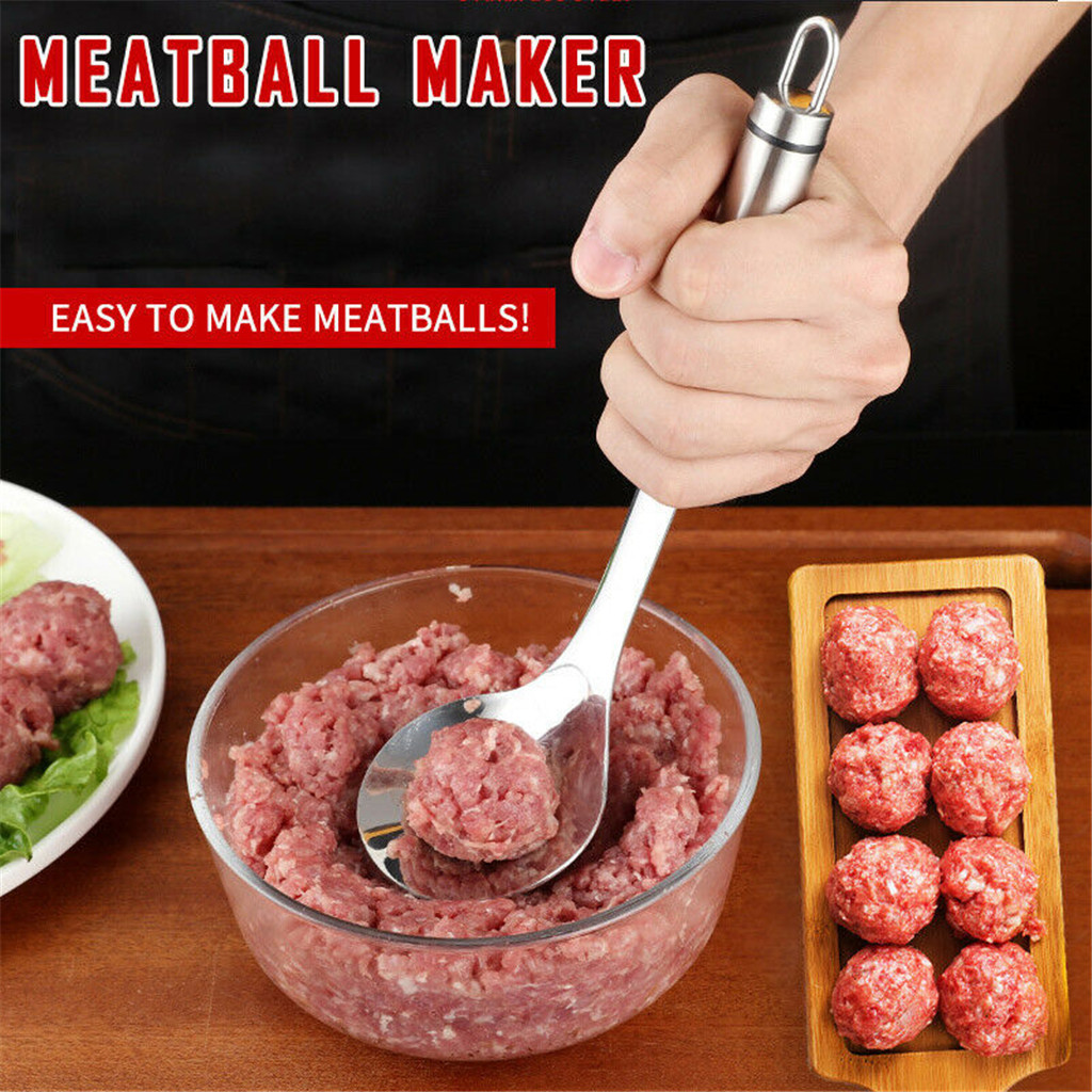 Kitchen Tools Non-Stick Creative <font><b>Meatball</b></font> <font><b>Maker</b></font> Stainless Steel Kitchen Meat Ball Mold Spoon Kitchen Gadget Meat Tools#p7 image