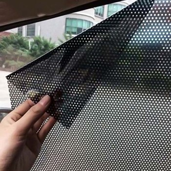 2pcs/Set Car Sunshade Electrostatic Stickers Car Styling Car UV Sticker Car Vehicle Sun Block Sun-shading Stickers Auto Supplies image