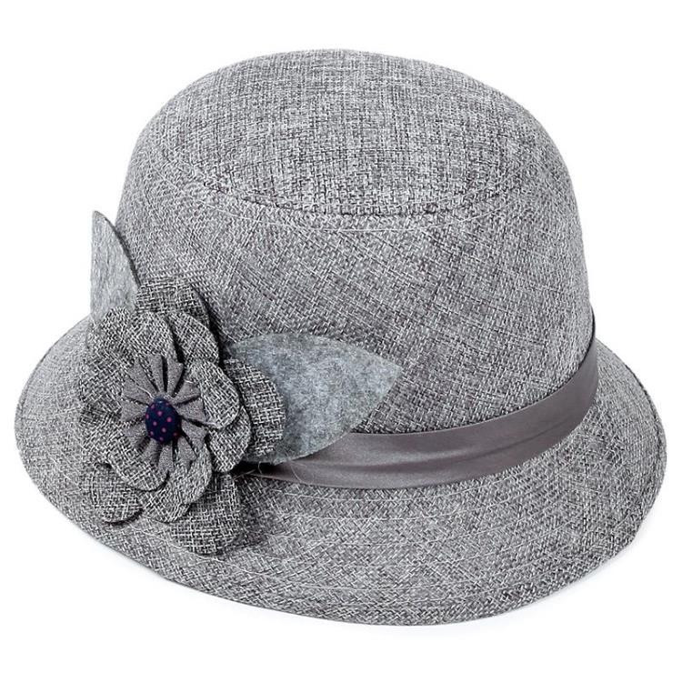 Summer Hats For Women Straw Flower Women Flax Ladys Hat Solid Color Bowler Ladies Hats 2020 Sun Hats Breathable 1PC Beach Chapeu