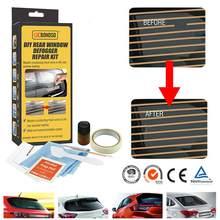 2020 diy janela traseira defogger kit de reparo para arranhões do carro quebrado grade linhas conduzir eletricidade facilmente mão conjuntos ferramentas