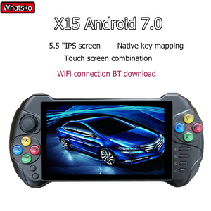 Whatsko X15 Andriod handheld game console 5.5 inch screen quad core 2G suitable for RAM 32G ROM video Retro mini game consola