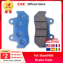 CVK Front Brake Disks Pads Disc For Honda Steed400 old Old Style Steed Steed600 Magna Magna250 Motorcycle Accessories cheap 0 19kg braking 4 93inch FOR Honda Steed400 Steed600 Steed Magna 9 6inch 1inch Aluminum alloy As the picture shown installation instructions not included