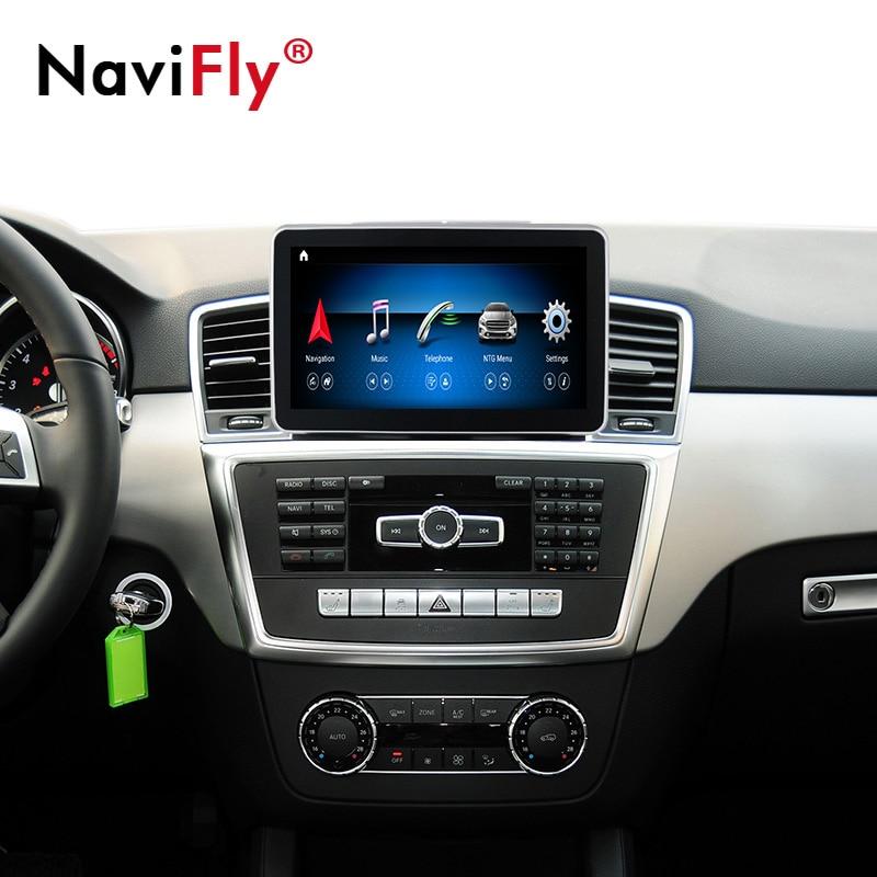 Android 10 8 çekirdekli 4 + 64G araç dvd oynatıcı radyo multimedya oynatıcı GPS navigasyon için Mercedes Benz ML sınıfı w166 2012 2013 2014 2015 NTG4.5