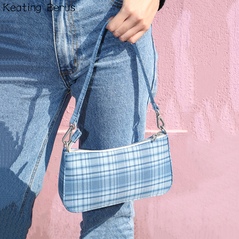 Famous Brand Shoulder Bag Vintage Retro Plaid Bags Sac Femme Hot Sale French Elegant Lady Small Hand Bag Tote Bolsa Feminia