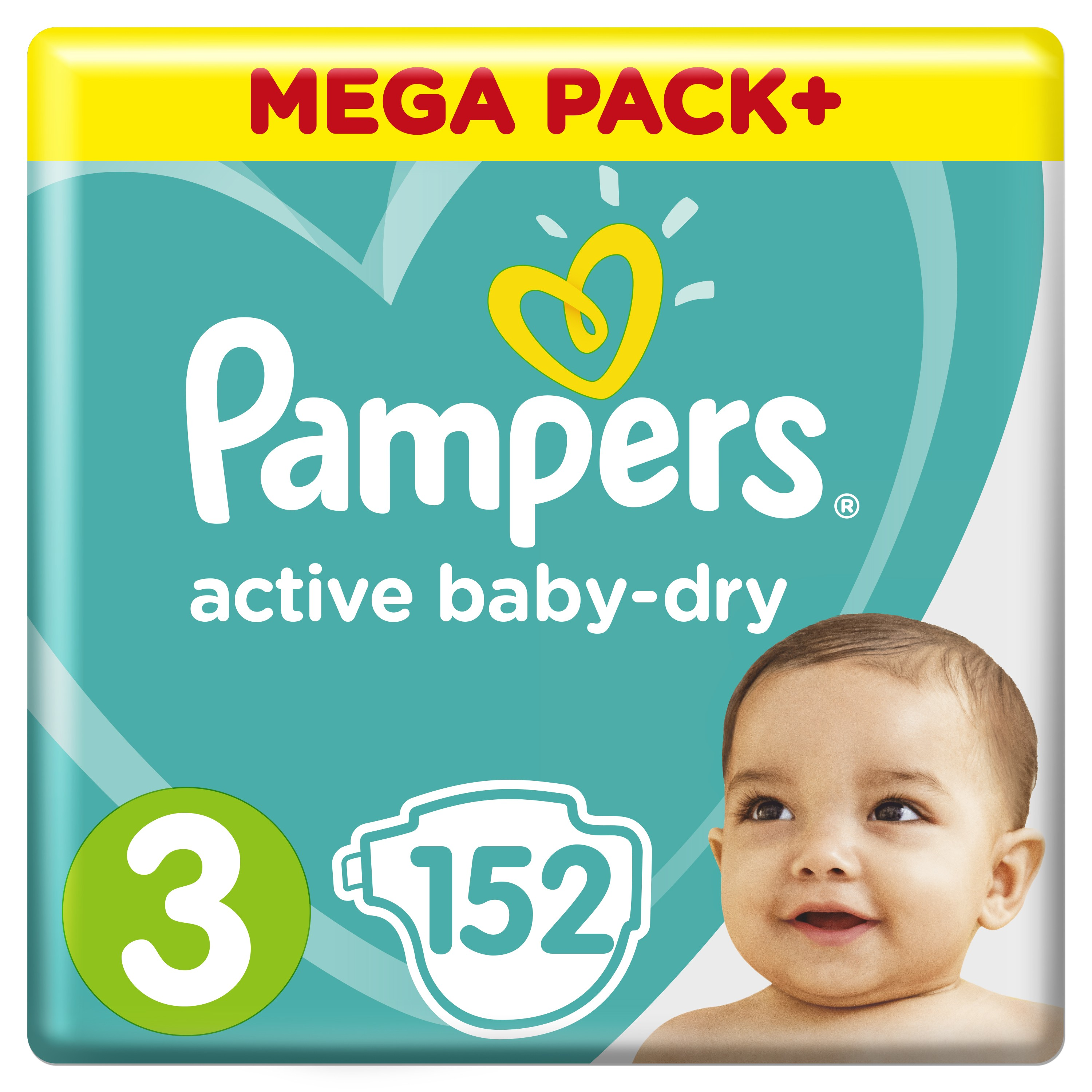 Подгузники Pampers Active Baby Dry 6 10 кг, 3 размер, 152 шт.|baby diapers|diapers for childrendisposable baby diapers | АлиЭкспресс