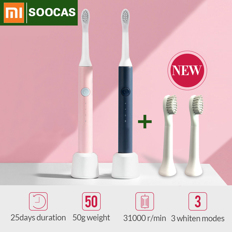 Xiaomi Toothbrush Sonic Wave Electric toothbrush for toothbrush Head Rechargeable xiaomi SOOCAS SO Electric Toothbrush mijia 5