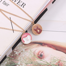 DIY Sweet Cute Bear Necklace For Women Girls Gold Chain Colorful Animal Enamel Pendant Necklaces Choker Lovely Jewelry Gift 2019