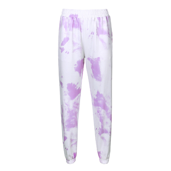 Rockmore Tie Dye Pencil Pants Plus Size Womens Streeetwear High Waisted Joggers Pink Harajuku Trousers Pockets Loose SweatPants 10