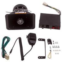 200W 9 Sound Loud Car Warning Alarm Police Fire Horn Speaker PA MIC System Electric Speaker Universal New
