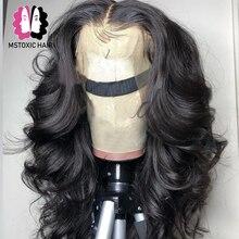Mstoxic волна тела 360 синтетический фронтальный парик с волосами младенца бразильские волосы Remy фронтальные человеческие волосы парики для женщин отбеленные узлы