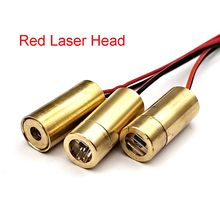 Cabeça do laser 650nm 9mm 3v 50mw laser cruz módulo de cobre vermelho cabeça laser vermelho