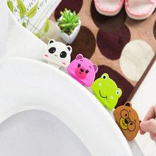Cartoon Panda pig Frog handle toilet seat hinge bowl holder lifter with Double adhesive tape free shipping
