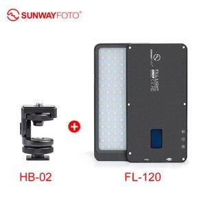 Image 2 - SUNWAYFOTO FL 120 LED lumière vidéo éclairage Photo sur Olympu Pentax DV caméra chaussure chaude réglable LED pour DSLR YouTube studio photo