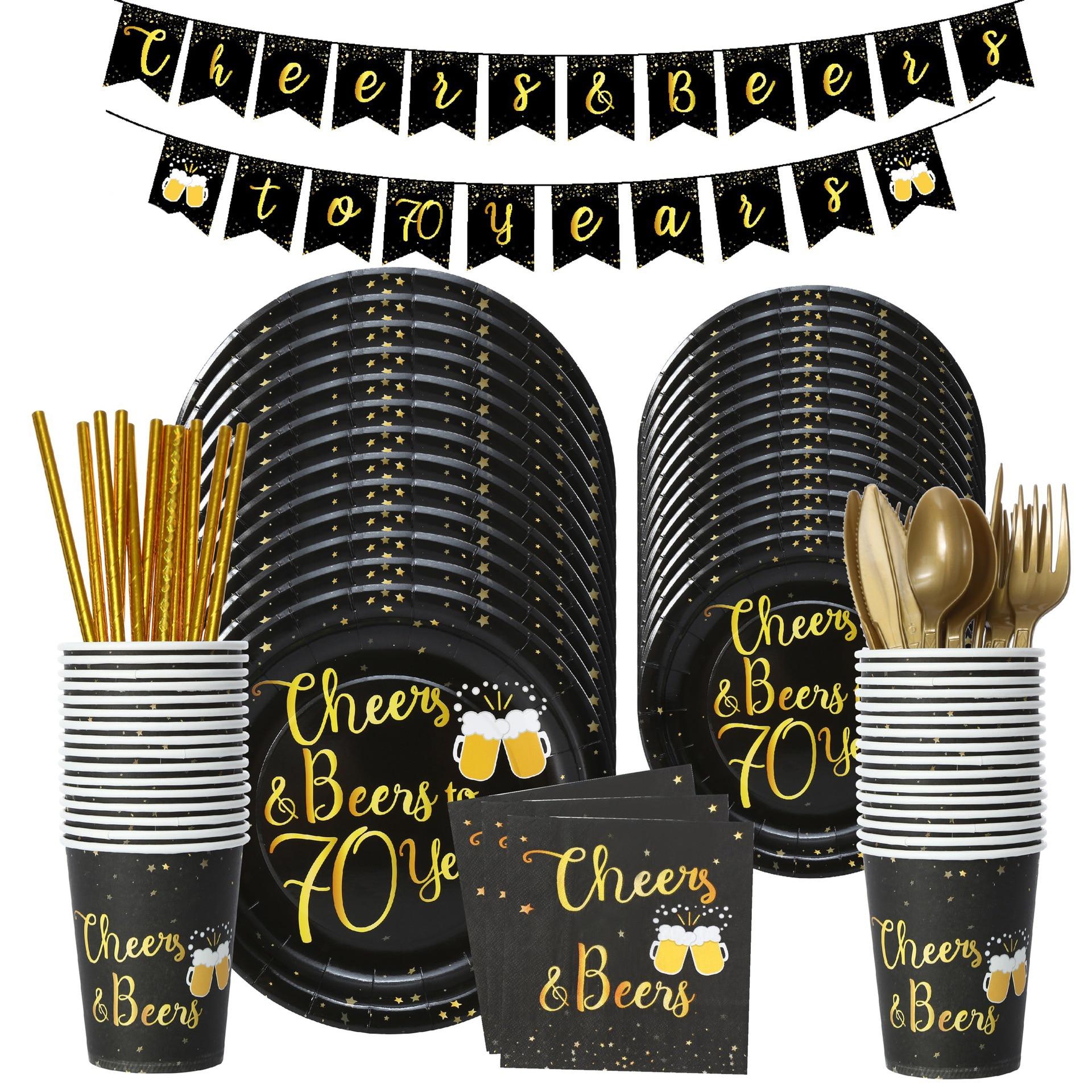 70th день рождения Cheer 70 лет День Рождения украшения 70th одноразовая посуда день рождения 70 лет воздушный шар 70 лет Cheer Beer