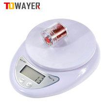 Towayer 5kg/1g 1kg/0.1g taşınabilir dijital ölçekli elektronik terazi posta gıda ölçüm ağırlık mutfak elektronik terazi