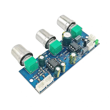 NE5532 tone Preamplifier Board 2.1 Channel Audio equalizer Subwoofer Preamp Tone Control Bass Pre amplifier DC10-24V