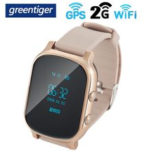 Greentiger T58 GPS WIFI Smart Kids Watch OLED Screen Tracker Locator SOS Anti-Lost Children Remote Monitor Student Smartwatch(China)