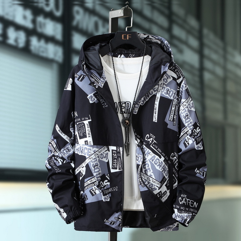 Plus Size 10XL 9XL 8XL 7XL 6XL Spring Autumn Hip Hop Jacket Men Slim Fit Flowers Pilot Bomber Jacket Men's Stand Collar Coats