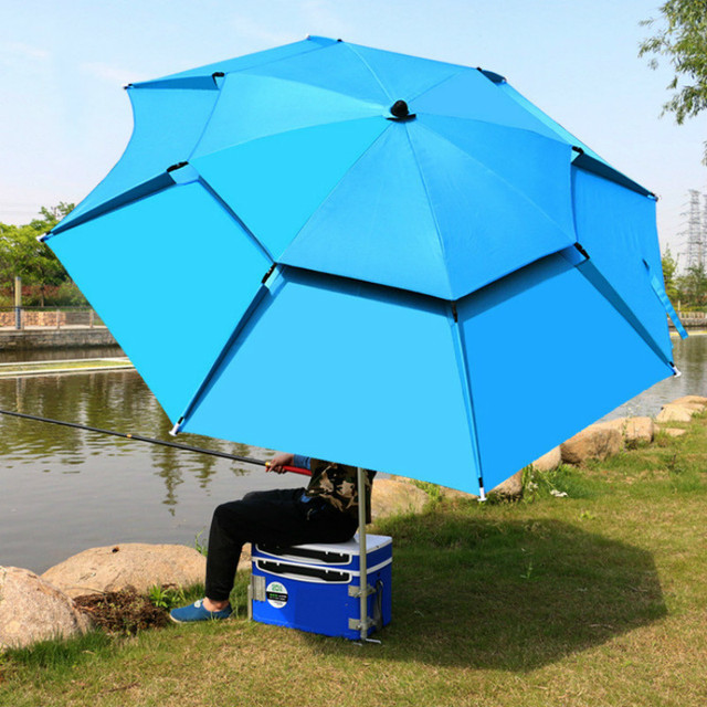1.8-2m 360° Outdoor Beach Camping Fishing Umbrella Fold Sun Protection Anti UV Sunshade Umbrella Waterproof Awning Rain Umbrella 1