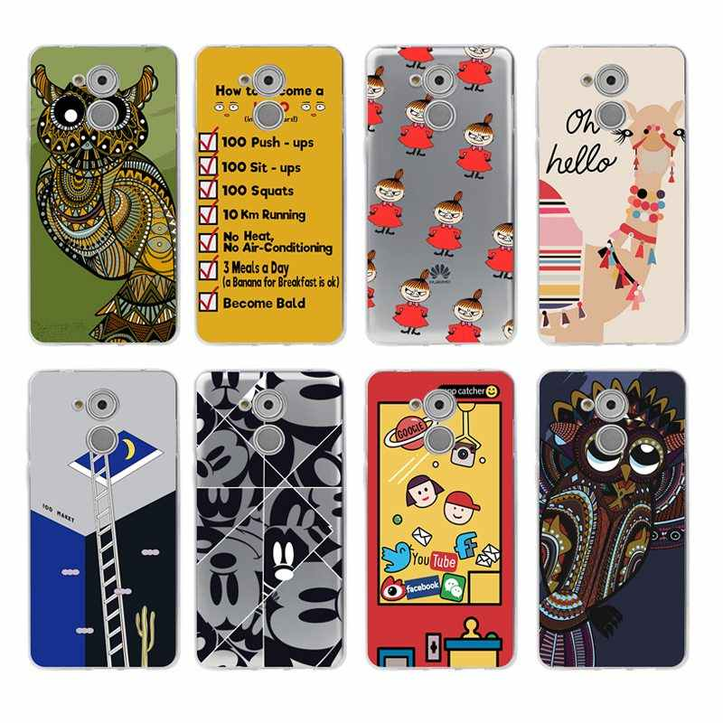 Weiche TPU Telefon Fall Cartoon Bunte blume Für honor P10lite P10 plus P8 P9 P20 honor 6A 7a 8 9 5a 5c 8X 6X 10lite C337