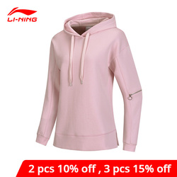 Li-Ning Frauen Die Trend Hoodies 66% Baumwolle 34% Polyester Zipper Lose Fit Futter li ning Sport Mit Kapuze Pullover AWDP092 WWW1016