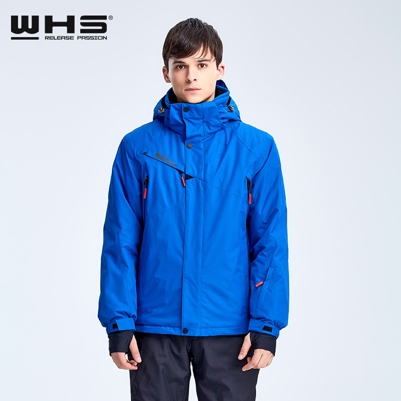 WHS Winter Fashion Sports Jacket Men Outdoor Mountaineering And Skiing Jacket Brand Warm Coat Waterproof And Windproof Hot Sale