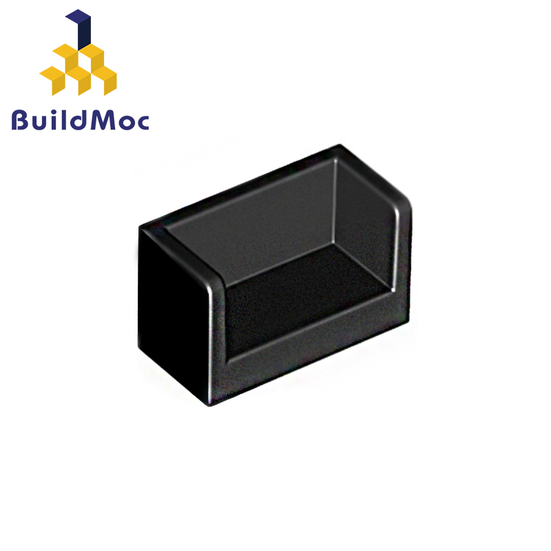 BuildMOC 23969 Panel 1 X 2 X 1 With Rounded Corners For Building Blocks Parts DIY LOGO Educational Tech Parts Toys