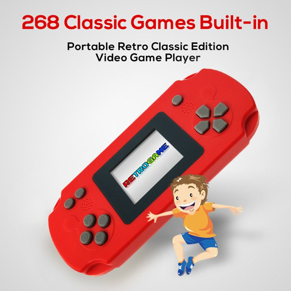 Kids Children Adults Portable Handheld Game Console 8 Bit Built-in 268 Games APP High Tech Classic Games