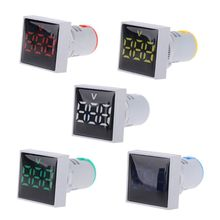 Light Volt Indicator Voltage-Panel-Meter 22mm AC AD16 20-500V Led-Lamp Square Wholesale
