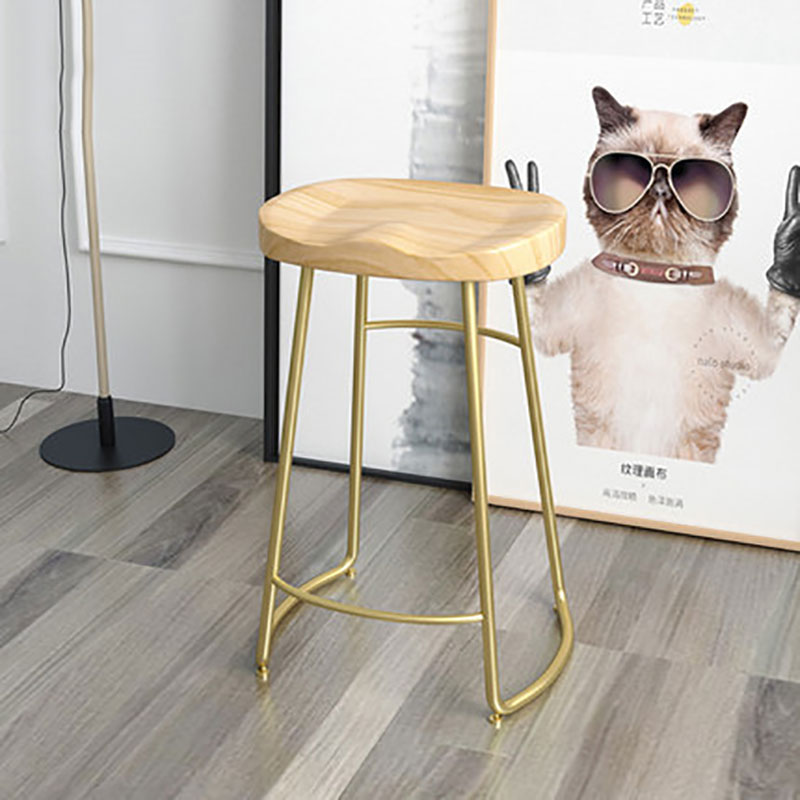 Nordic Bar Chair Solid Wood Modern Simple Fashion High Chair Household Cafe Various Heights And Styles